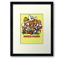 Paper Mario Framed Print