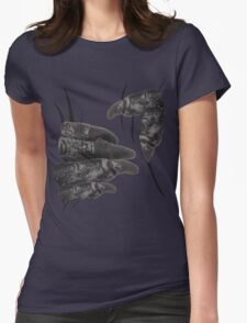 Funny illusion Monster Witch Big Hand Squeeze  Womens Fitted T-Shirt