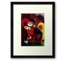Harley Quinn Pony Framed Print