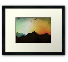 Mountaintops Framed Print