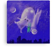 ghostly friends Canvas Print