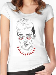 tyler joseph portrait Women's Fitted Scoop T-Shirt