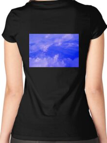 Aerial Blue Hues III  Women's Fitted Scoop T-Shirt