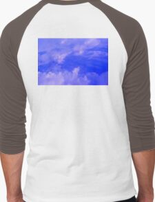 Aerial Blue Hues III  Men's Baseball ¾ T-Shirt