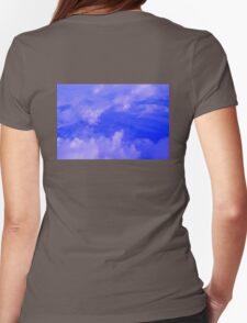 Aerial Blue Hues III  Womens Fitted T-Shirt