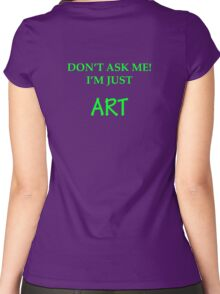 I'm just Art Women's Fitted Scoop T-Shirt