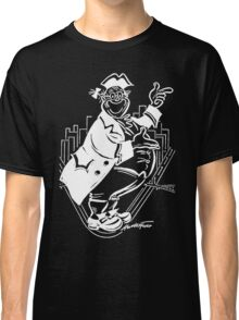 """Pa Pitt"" White on Black Classic T-Shirt"