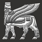 Babylonian Winged Bull Lamassu [Silver] by Captain7
