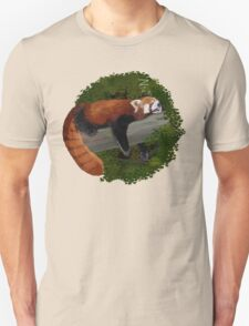 Sleepy Red Panda  Unisex T-Shirt