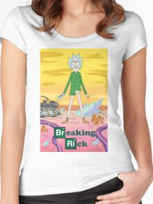 Breaking Rick Parody Women's Fitted Scoop T-Shirt