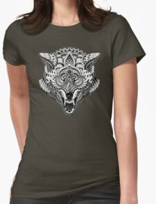 Wolf Head Womens Fitted T-Shirt