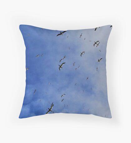 The Gannets Throw Pillow