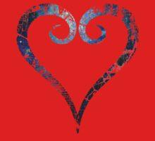 Kingdom Hearts Heart grunge universe Kids Tee
