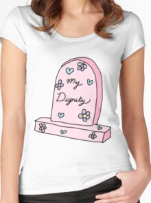 RIP MY DIGNITY TUMBLR  Women's Fitted Scoop T-Shirt