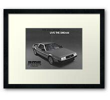 80s DeLorean advertisement  Framed Print