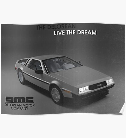 80s DeLorean advertisement  Poster