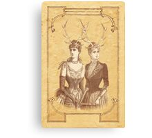 Sisters Emmaline And Cornelia Always Wore The Biggest Hats Canvas Print