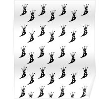 Lil' Kim The Queen Bee Logo Collection - ALL OVER PRINT EDITION (Black) Poster