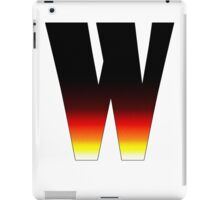 """W"" Letter Comic Book Style iPad Case/Skin"