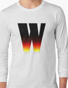 """""""W"""" Letter Comic Book Style Long Sleeve T-Shirt"""