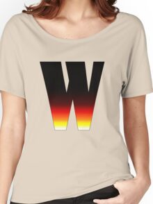 """""""W"""" Letter Comic Book Style Women's Relaxed Fit T-Shirt"""