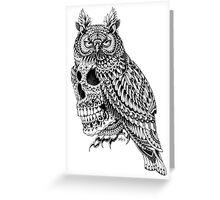 Great Horned Skull Greeting Card