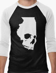 Skullinois (White Graphic) Men's Baseball ¾ T-Shirt