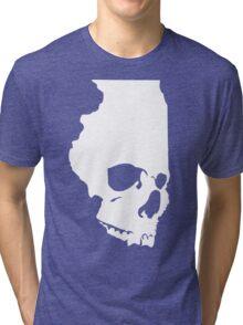 Skullinois (White Graphic) Tri-blend T-Shirt
