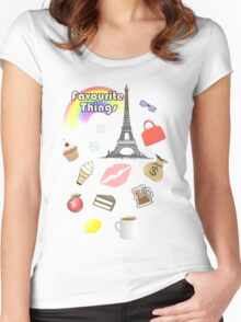 My Favourite Things Women's Fitted Scoop T-Shirt