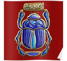 Sacred Egyptian Scarab  Poster