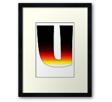"""U"" Letter Comic Book Style Framed Print"