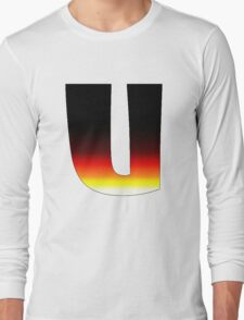 """U"" Letter Comic Book Style Long Sleeve T-Shirt"