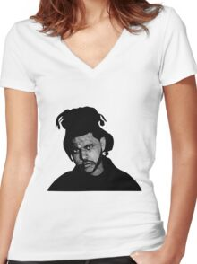 Weeknd Women's Fitted V-Neck T-Shirt