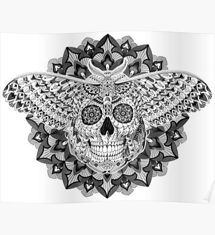 Skull Moth Poster