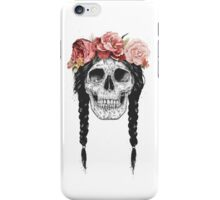 Skull with floral crown iPhone Case/Skin