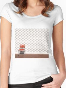 Gallery Wall and Chair Women's Fitted Scoop T-Shirt