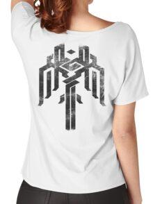 Kirkwall crest grunge Women's Relaxed Fit T-Shirt