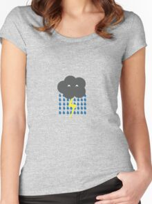 Storm Cloud Women's Fitted Scoop T-Shirt