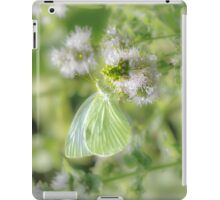 White Cabbage Butterfly iPad Case/Skin