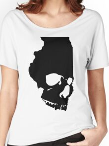 Skullinois (Black Graphic) Women's Relaxed Fit T-Shirt