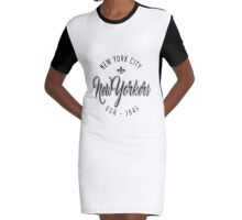 New Yorker Graphic T-Shirt Dress