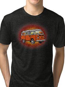 Camper Van Go Sunset Tri-blend T-Shirt