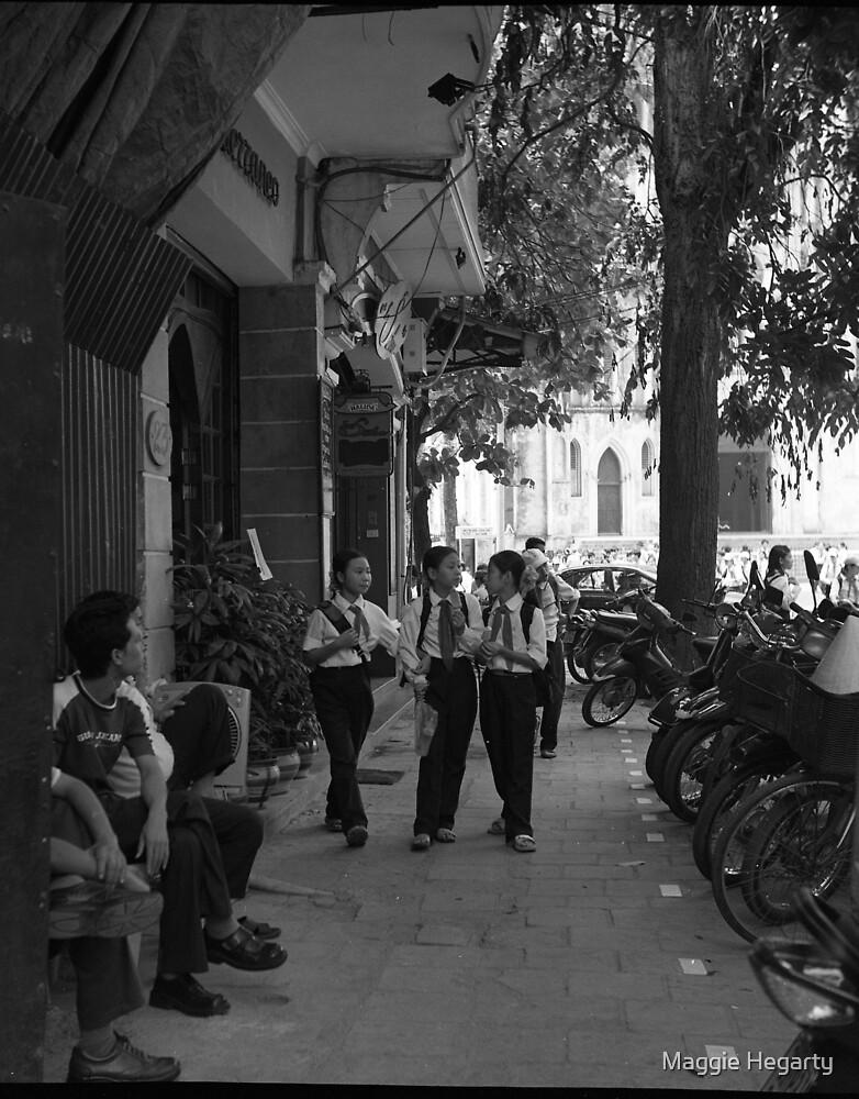 Street scene Hanoi by Maggie Hegarty