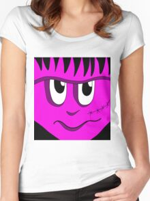 Halloween - pink Frankenstein Women's Fitted Scoop T-Shirt