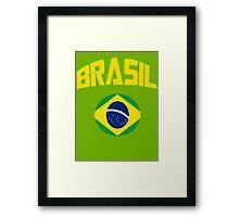 Team Brazil Tee Framed Print