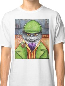 Sherlock Holmes, the British Shorthair Detective! Classic T-Shirt