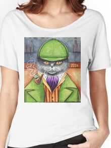 Sherlock Holmes, the British Shorthair Detective! Women's Relaxed Fit T-Shirt
