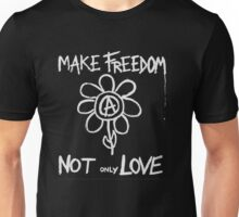 Make freedom - Anarchy Flower Unisex T-Shirt