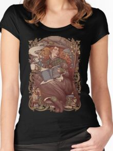 NOUVEAU FOLK WITCH Women's Fitted Scoop T-Shirt