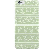 Mint Mosaic Strip Pattern iPhone Case/Skin